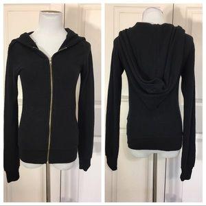 NWT! Wildfox black zipper hoodie